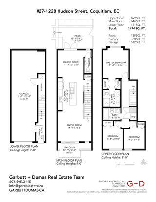 Photo 40: 27 1228 HUDSON Street in Coquitlam: Scott Creek Townhouse for sale : MLS®# R2614222
