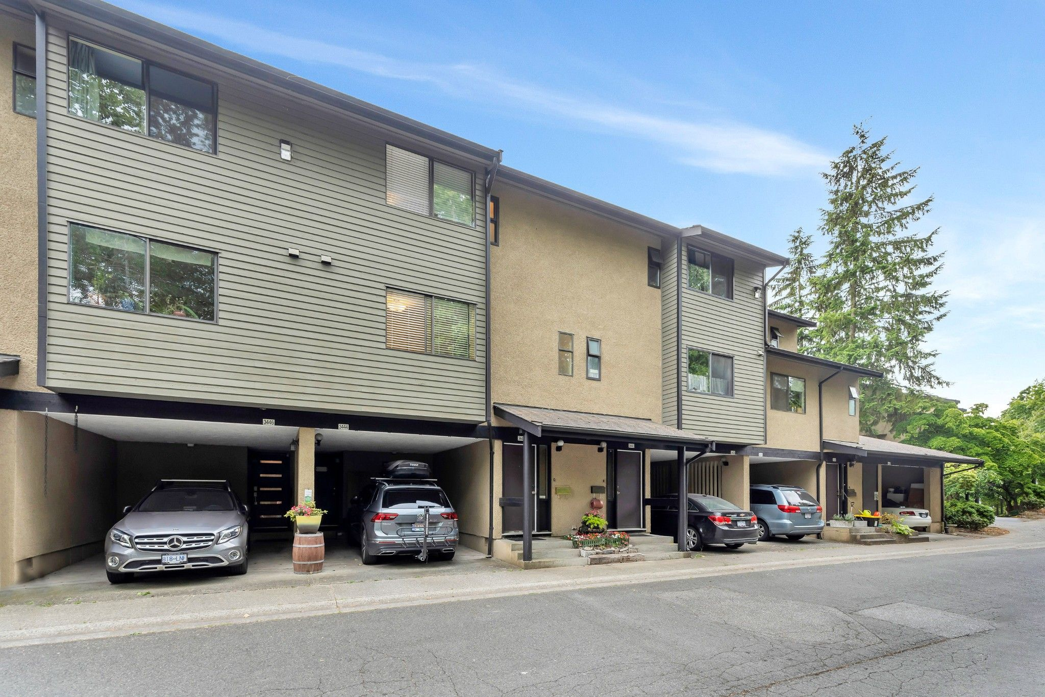 Main Photo: 3442 Nairn Avenue in Vancouver East: Champlain Heights Townhouse for sale : MLS®# R2620064