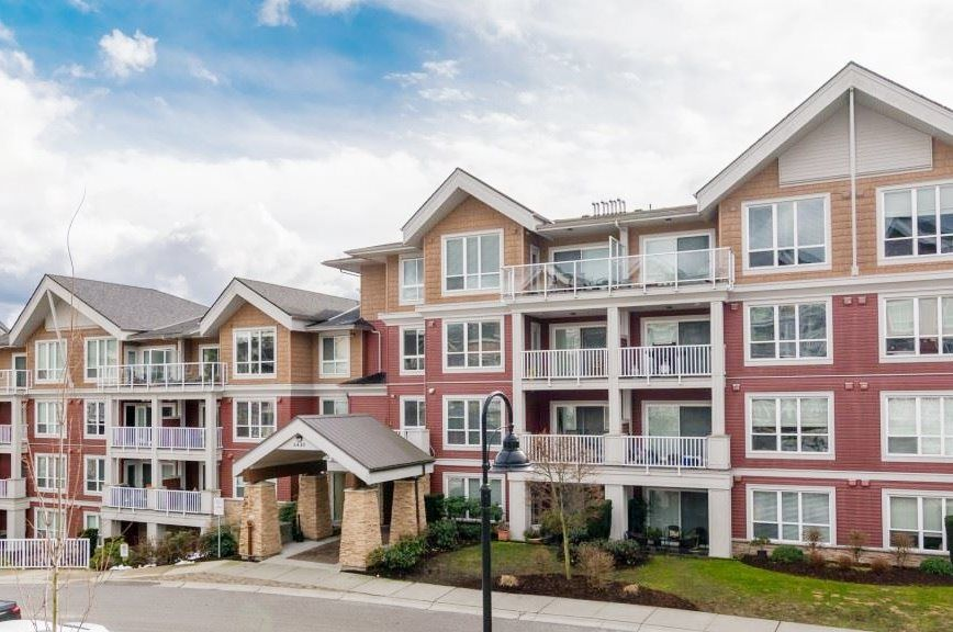 """Main Photo: 415 6440 194 Street in Surrey: Clayton Condo for sale in """"Waterstone"""" (Cloverdale)  : MLS®# R2569570"""