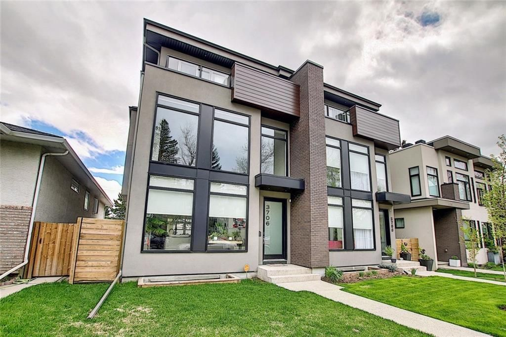 Main Photo: 3706 14A Street SW in Calgary: Altadore Semi Detached for sale : MLS®# A1126898