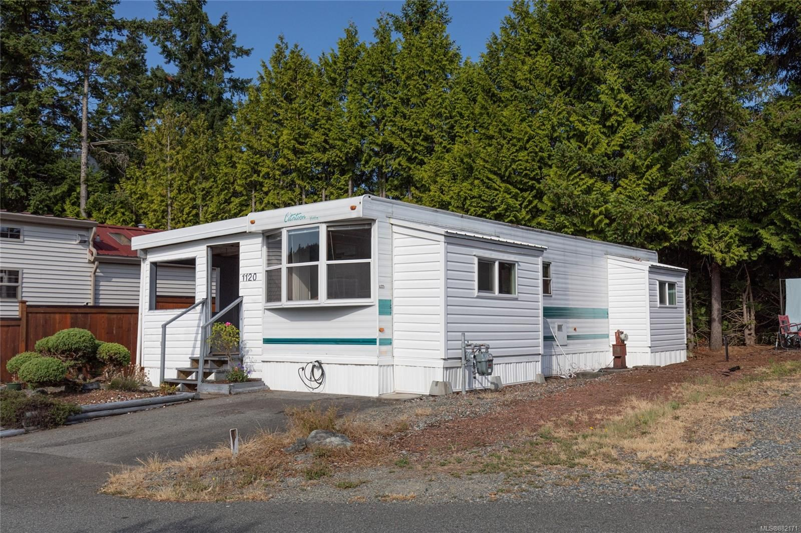 Main Photo: 1120 Woss Lake Dr in Nanaimo: Na South Jingle Pot Manufactured Home for sale : MLS®# 882171
