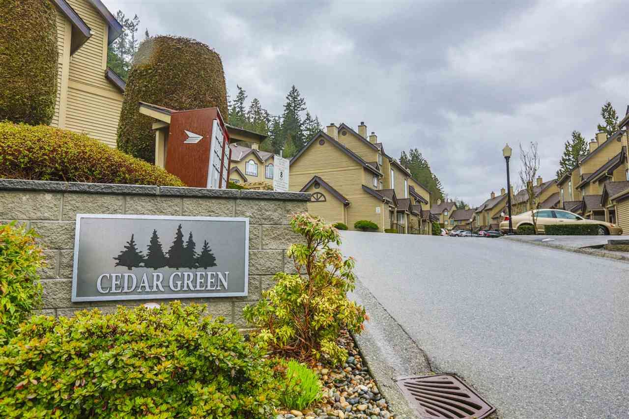 """Main Photo: 33 2736 ATLIN Place in Coquitlam: Coquitlam East Townhouse for sale in """"CEDAR GREEN ESTATES"""" : MLS®# R2040870"""