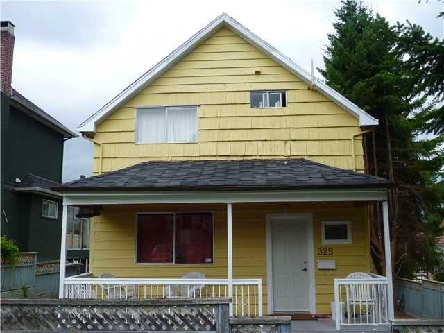 Main Photo: 325 E 18TH AV in Vancouver: Main House for sale (Vancouver East)  : MLS®# V902309