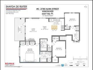Photo 21: 6 2780 ALMA Street in Vancouver: Kitsilano Townhouse for sale (Vancouver West)  : MLS®# R2618031