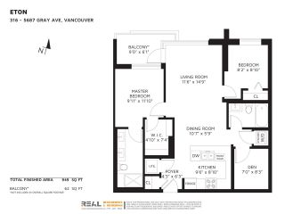 """Photo 2: 316 5687 GRAY Avenue in Vancouver: University VW Condo for sale in """"Eton"""" (Vancouver West)  : MLS®# R2428774"""