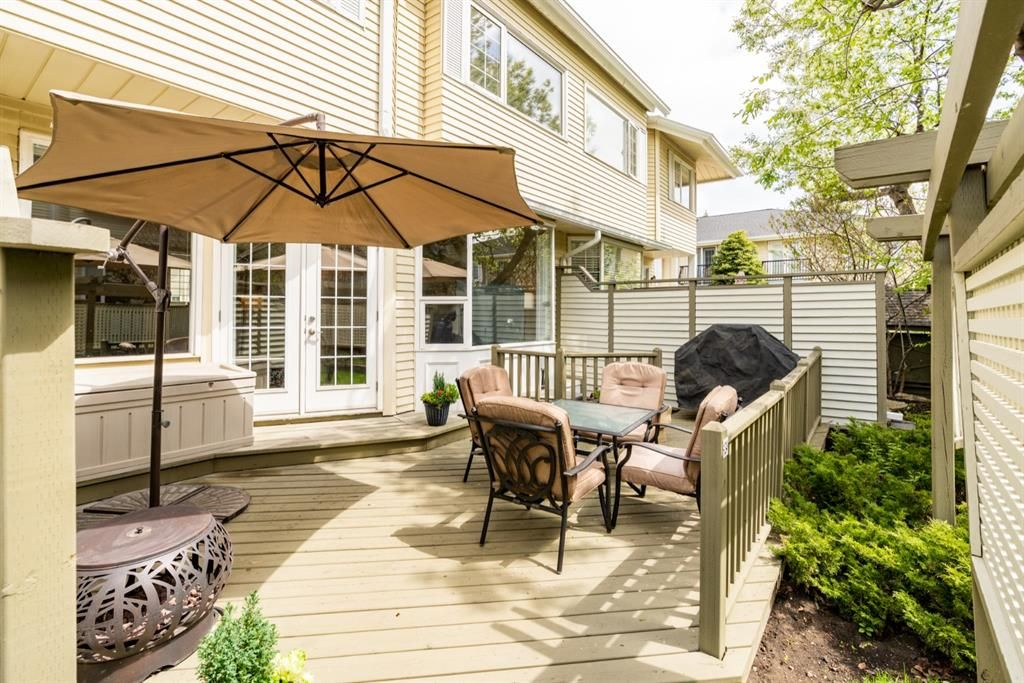 Sunny, South and Spacious deck.