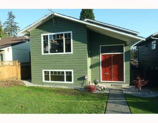 Photo 1: 2665 VIOLET Street in North_Vancouver: Blueridge NV House for sale (North Vancouver)  : MLS®# V768163