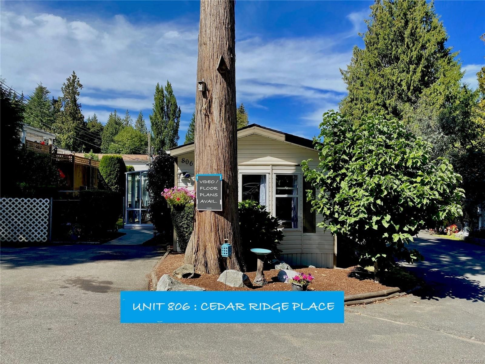 Main Photo: 806 2779 Stautw Rd in : CS Hawthorne Manufactured Home for sale (Central Saanich)  : MLS®# 854019