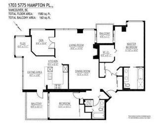 Photo 10: # 1703 5775 HAMPTON PL in Vancouver: Multifamily for sale : MLS®# V886243