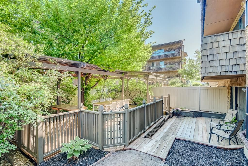 This is your private 2-tiered patio!