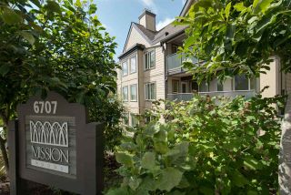 """Photo 1: 314 6707 SOUTHPOINT Drive in Burnaby: South Slope Condo for sale in """"MISSION WOODS"""" (Burnaby South)  : MLS®# R2201972"""