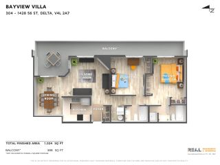 "Photo 2: 304 1428 56 Street in Delta: Beach Grove Condo for sale in ""BAYVIEW VILLAS"" (Tsawwassen)  : MLS®# R2473741"