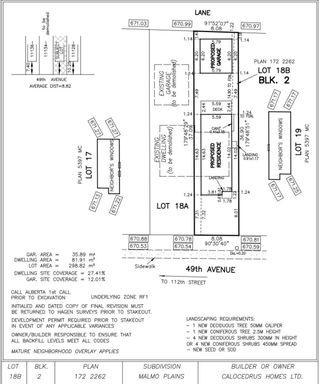 Photo 1: 11132 49 Avenue in Edmonton: Zone 15 Vacant Lot for sale : MLS®# E4249080
