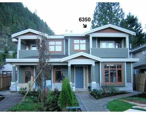 Main Photo: 6350 DOUGLAS Street in West_Vancouver: Horseshoe Bay WV 1/2 Duplex for sale (West Vancouver)  : MLS®# V675265