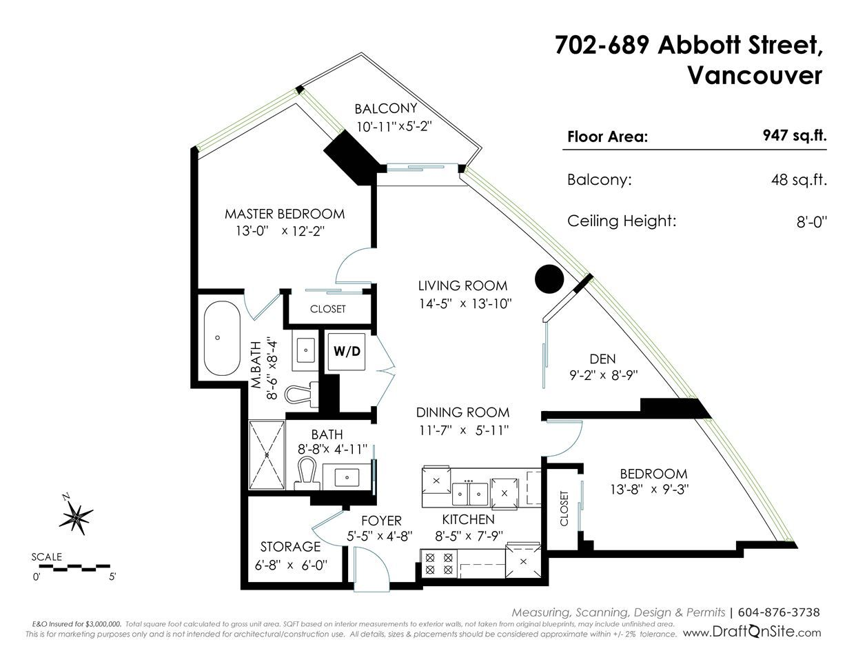 """Photo 17: Photos: 702 689 ABBOTT Street in Vancouver: Downtown VW Condo for sale in """"ESPANA"""" (Vancouver West)  : MLS®# R2352723"""
