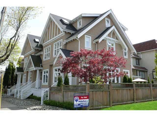 """Main Photo: 698 W 13TH Avenue in Vancouver: Fairview VW Townhouse for sale in """"HEATHER CROSSING"""" (Vancouver West)  : MLS®# V823692"""