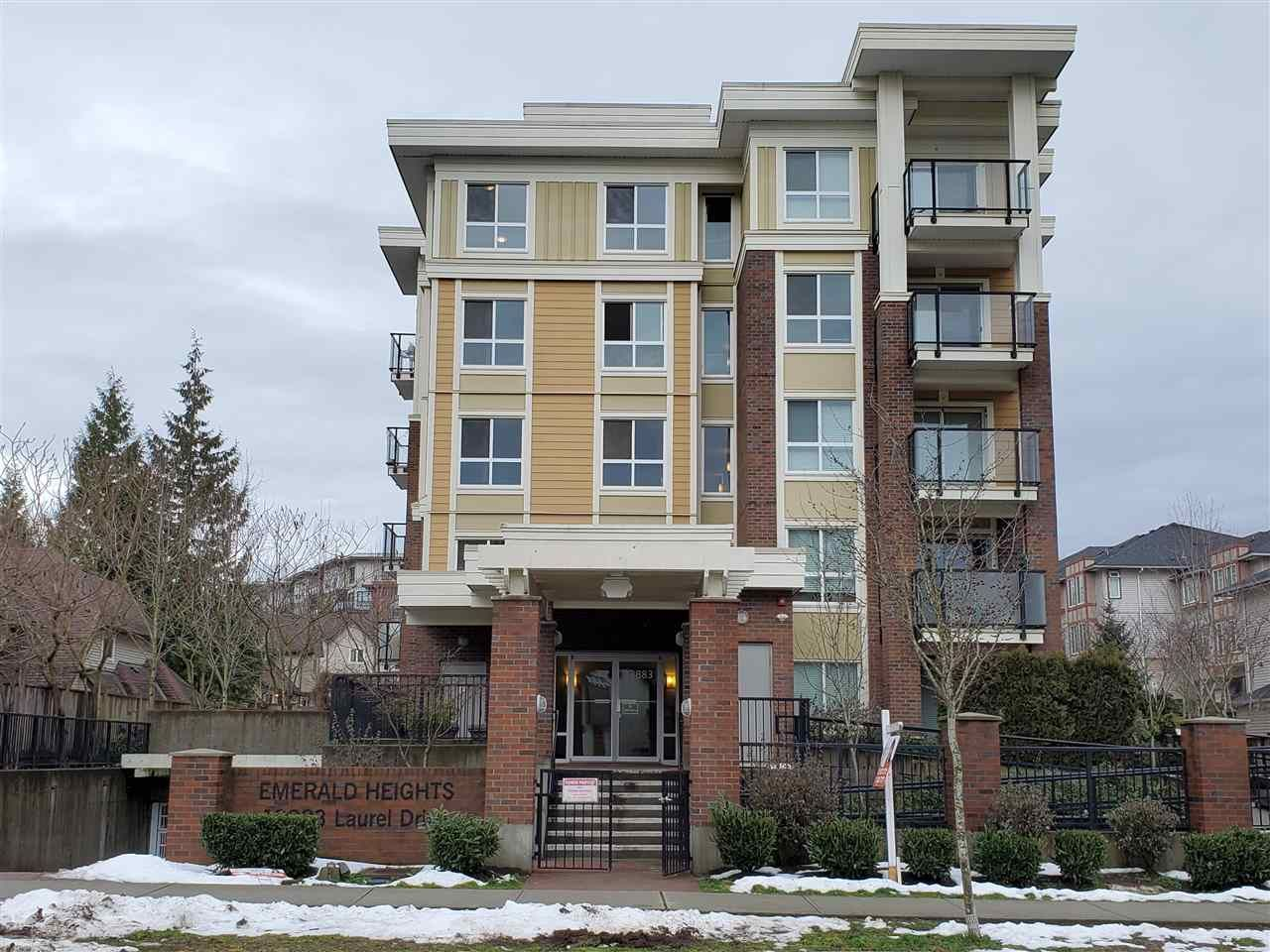 "Main Photo: 517 13883 LAUREL Drive in Surrey: Whalley Condo for sale in ""Emerald Heights"" (North Surrey)  : MLS®# R2552479"