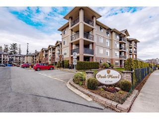 """Photo 1: 218 45769 STEVENSON Road in Chilliwack: Sardis East Vedder Rd Condo for sale in """"Park Place 1"""" (Sardis)  : MLS®# R2603905"""