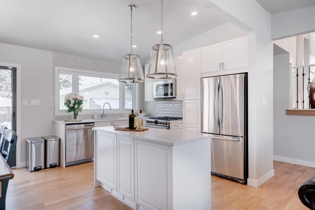 Opened up completely renovated modern kitchen.
