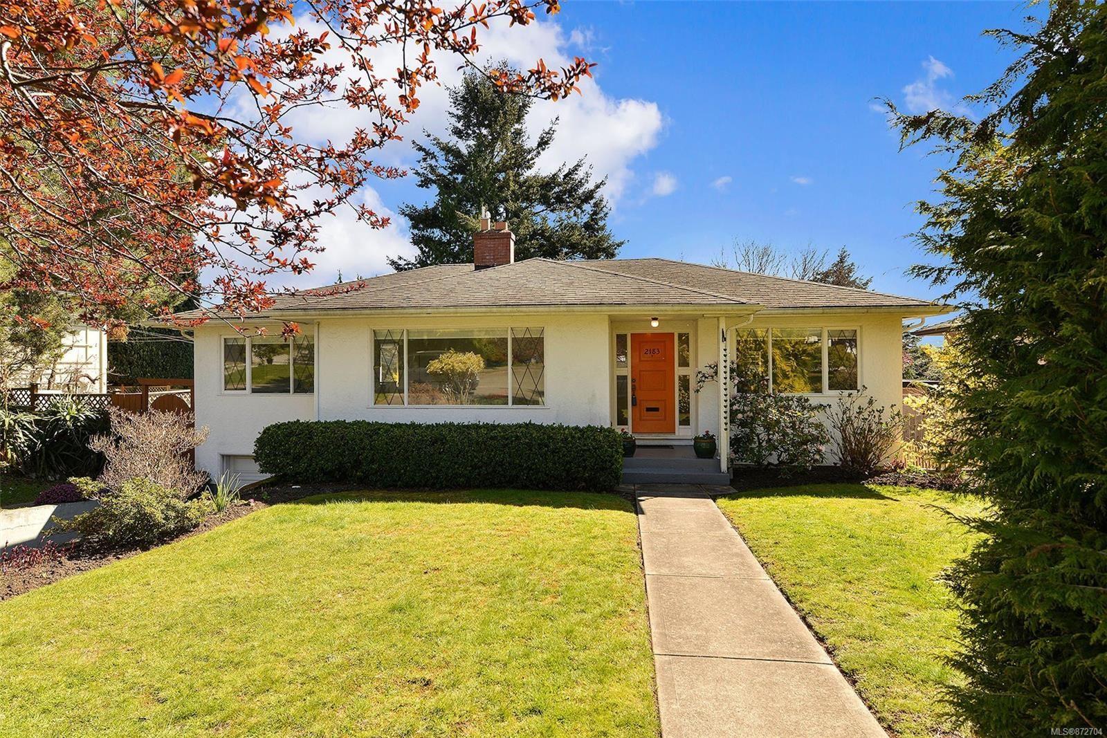 Photo 1: Photos: 2183 Sandowne Rd in : OB Henderson House for sale (Oak Bay)  : MLS®# 872704