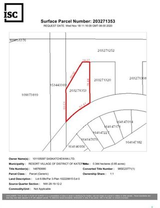 Photo 10: 602 Berry Hills Road in Katepwa Beach: Lot/Land for sale : MLS®# SK844923