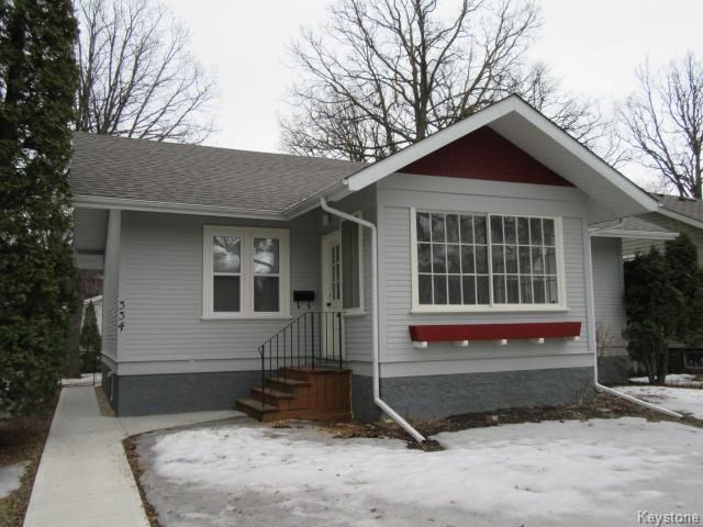 Main Photo: 334 Oakwood Avenue in Winnipeg: Riverview Residential for sale (1A)  : MLS®# 1706711