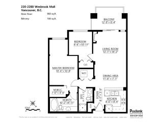 Photo 16: # 220 2280 WESBROOK MA in Vancouver: University VW Condo for sale (Vancouver West)  : MLS®# V1066911