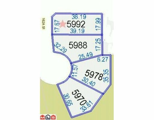 Main Photo: 5992 162A Street in Surrey: Cloverdale BC Land for sale (Cloverdale)  : MLS®# F1002050