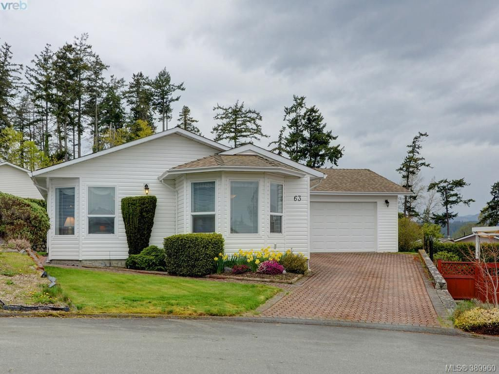 Main Photo: 63 Salmon Crt in VICTORIA: VR Glentana Manufactured Home for sale (View Royal)  : MLS®# 783796