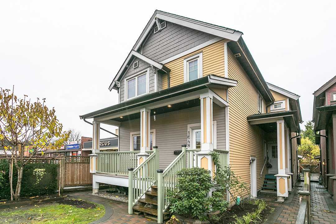 """Main Photo: 1648 E 12TH Avenue in Vancouver: Grandview VE 1/2 Duplex for sale in """"GRANDVIEW WOODLANDS"""" (Vancouver East)  : MLS®# R2222114"""