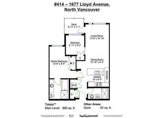"Photo 20: 414 1677 LLOYD Avenue in North Vancouver: Pemberton NV Condo for sale in ""DISTRICT CROSSING"" : MLS®# V1109590"