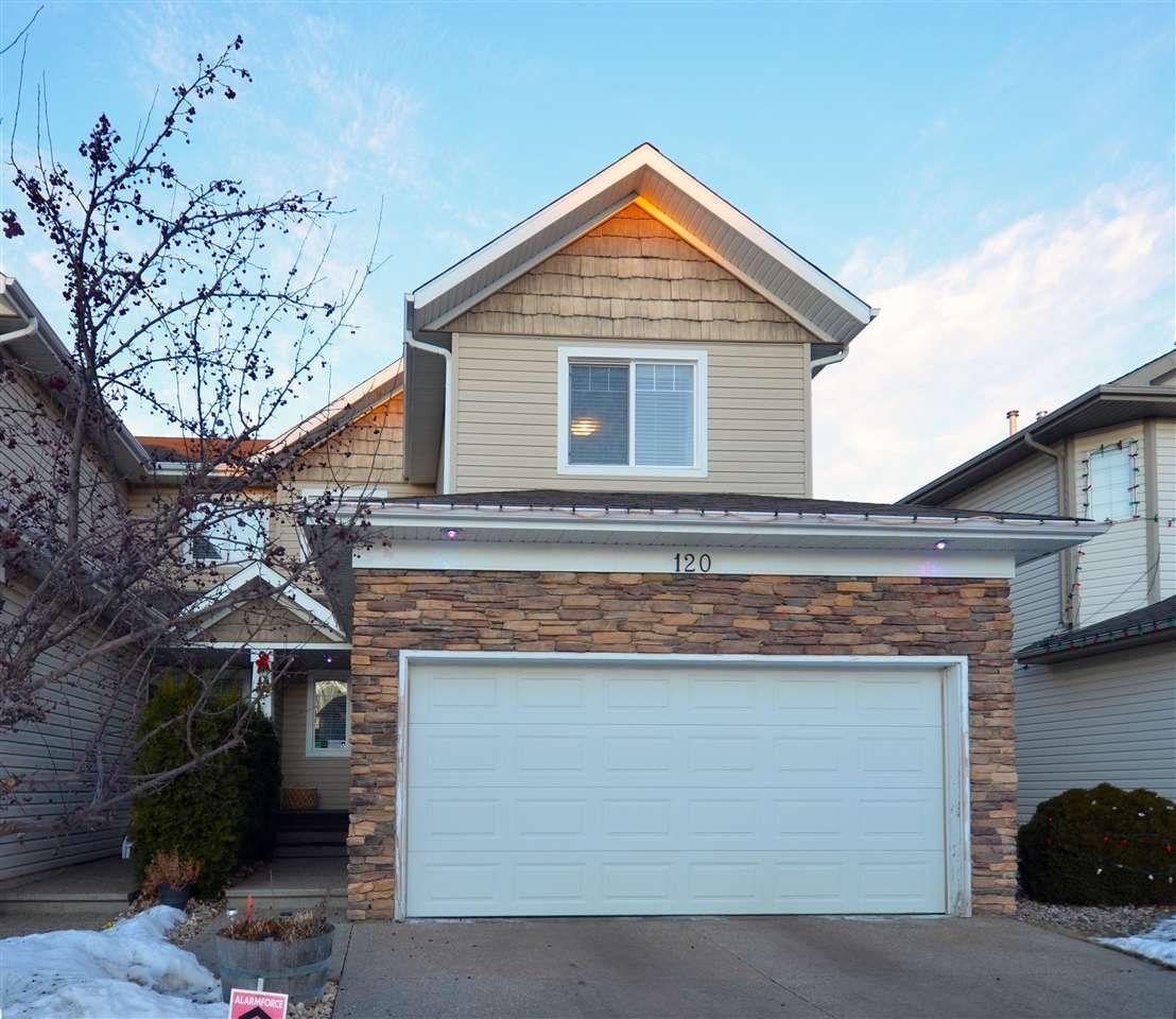 Main Photo: 120 CASTLE Drive in Edmonton: Zone 27 House Half Duplex for sale : MLS®# E4225009