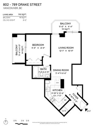 """Photo 14: 802 789 DRAKE Street in Vancouver: Downtown VW Condo for sale in """"Century Tower"""" (Vancouver West)  : MLS®# R2579106"""