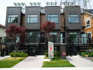 """Photo 1: 5033 CHAMBERS Street in Vancouver: Collingwood VE Townhouse for sale in """"8 On Chambers"""" (Vancouver East)  : MLS®# R2612581"""