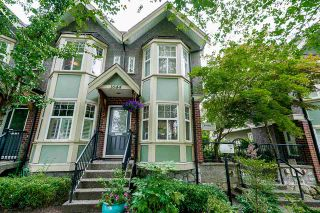 """Photo 1: 1644 E GEORGIA Street in Vancouver: Hastings Townhouse for sale in """"The Woodshire"""" (Vancouver East)  : MLS®# R2480572"""
