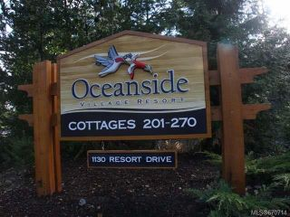 Photo 1: 237 1130 RESORT DRIVE in PARKSVILLE: PQ Parksville Row/Townhouse for sale (Parksville/Qualicum)  : MLS®# 670714