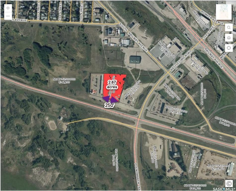 Main Photo: Hwy 16 Bypass Acreage in North Battleford: Riverview NB Commercial for sale : MLS®# SK861440