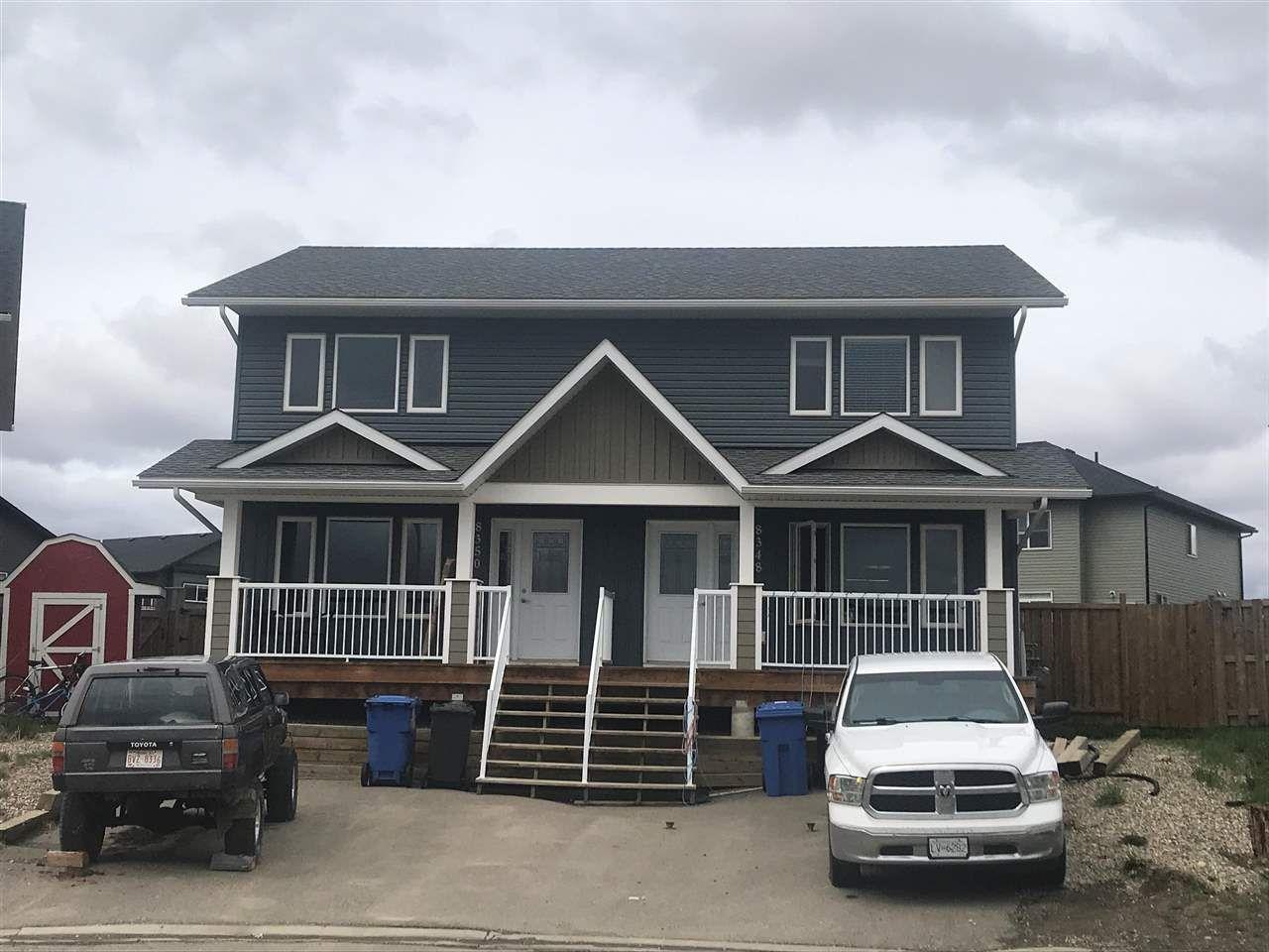 Main Photo: 8348 87 Avenue in Fort St. John: Fort St. John - City SE 1/2 Duplex for sale (Fort St. John (Zone 60))  : MLS®# R2581736