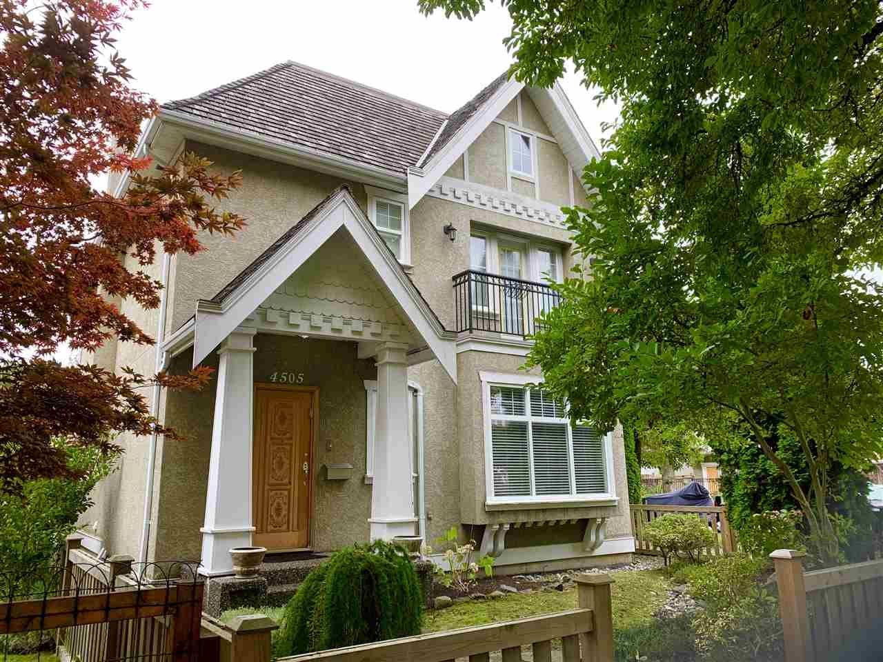 Main Photo: 4505 INVERNESS Street in Vancouver: Knight House for sale (Vancouver East)  : MLS®# R2513976