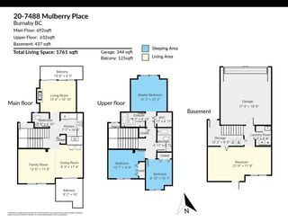 "Photo 24: 20 7488 MULBERRY Place in Burnaby: The Crest Townhouse for sale in ""SIERRA RIDGE"" (Burnaby East)  : MLS®# R2571433"