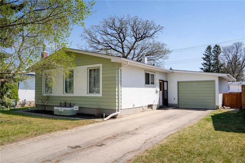 Main Photo: 237 Bedson Street in Winnipeg: Residential for sale (5G)  : MLS®# 202112066