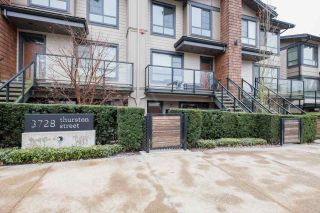 Main Photo: 14 3728 THURSTON Street in Burnaby: Central Park BS Townhouse for sale (Burnaby South)  : MLS®# R2545086
