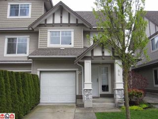 "Photo 1: 84 18221 68TH Avenue in Surrey: Cloverdale BC Townhouse for sale in ""Magnolia"" (Cloverdale)  : MLS®# F1112827"