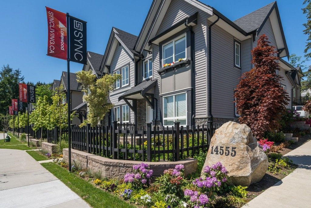 """Main Photo: 100 14555 68 Avenue in Surrey: East Newton Townhouse for sale in """"SYNC"""" : MLS®# R2169561"""