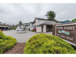 """Photo 1: 16 5770 VEDDER Road in Chilliwack: Vedder S Watson-Promontory Townhouse for sale in """"Centre Point"""" (Sardis)  : MLS®# R2608501"""