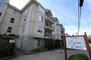 "Photo 1: 205 33502 GEORGE FERGUSON Way in Abbotsford: Central Abbotsford Condo for sale in ""Carina Court"" : MLS®# R2215286"