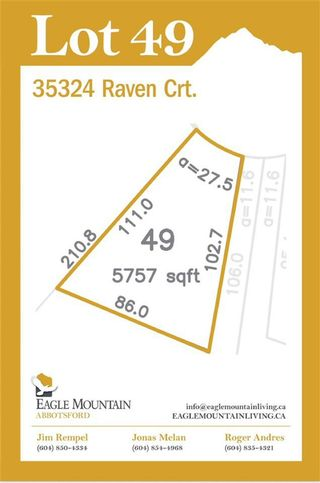 Main Photo: 35324 RAVEN Court in Abbotsford: Abbotsford East Land for sale : MLS®# R2575691