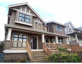 """Photo 1: 2345 W 8TH Avenue in Vancouver: Kitsilano 1/2 Duplex for sale in """"KITSILANO"""" (Vancouver West)  : MLS®# V630098"""