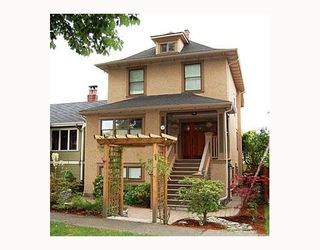 """Photo 1: 644 W 20TH Avenue in Vancouver: Cambie House for sale in """"DOUGLAS PARK"""" (Vancouver West)  : MLS®# V662117"""