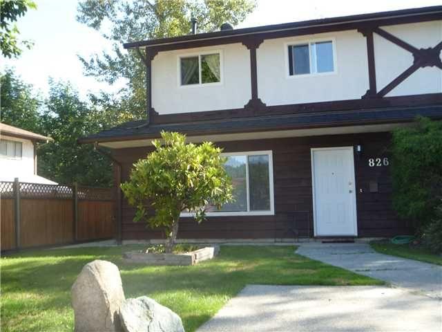 Main Photo: 826 INGERSOLL Avenue in Coquitlam: Coquitlam West 1/2 Duplex for sale : MLS®# V909081